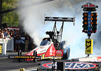 Jun 16, 2017; Bristol, TN, USA; NHRA top fuel driver Doug Kalitta during qualifying for the Thunder Valley Nationals at Bristol Dragway. Mandatory Credit: Mark J. Rebilas-USA TODAY Sports