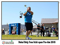 during the Pro-Am at the Dubai Duty Free Irish Open, Ballyliffin Golf Club, Ballyliffin, Co Donegal, Ireland.<br /> Picture: Golffile | Fran Caffrey<br /> <br /> <br /> All photo usage must carry mandatory copyright credit (&copy; Golffile | Fran Caffrey)