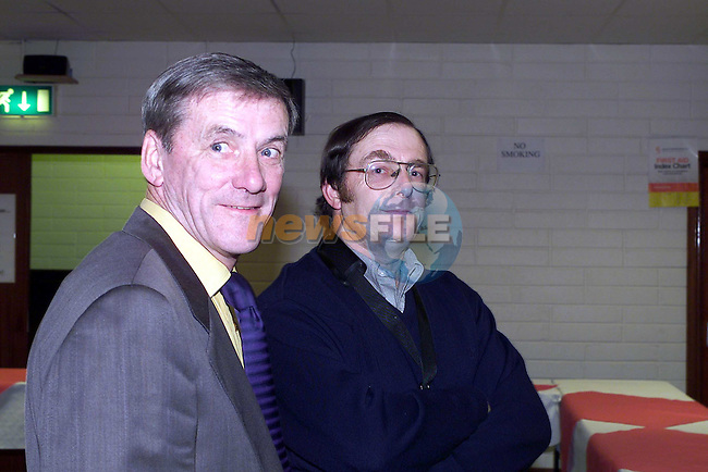 Harry Kelly and John McGing at the Ardee Brass Band Reunion.Pic Fran Caffrey Newsfile