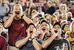 Florida State fans boo the referees in the second half of an NCAA college football game against Boston College in Tallahassee, Fla., Saturday, Nov. 17, 2018. Florida State defeated Boston College 22-21.  (AP Photo/Mark Wallheiser)