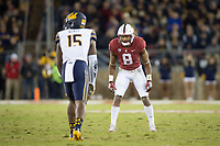 STANFORD, CA - November 18, 2017: Justin Reid at Stanford Stadium. The Stanford Cardinal defeated Cal 17-14 to win its eighth straight Big Game.