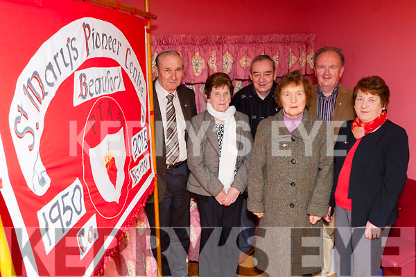 St Mary's Pioneers. Beaufort who are celebrating their 65th anniversary with a social in Kate Kearney's Cottage on Friday night after the presentation of pins in St Mary's Church l-r:Neil O'Sullivan, Joan O'connor, Noel O'Sullivan, Bridie Shanahan, Michael Foley and Joan O'Brien