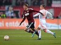 FUSSBALL   1. BUNDESLIGA  SAISON 2012/2013   12. Spieltag 1. FC Nuernberg - FC Bayern Muenchen      17.11.2012 Mike Frantz  (li, 1 FC Nuernberg) gegen Xherdan Shaqiri (FC Bayern Muenchen)