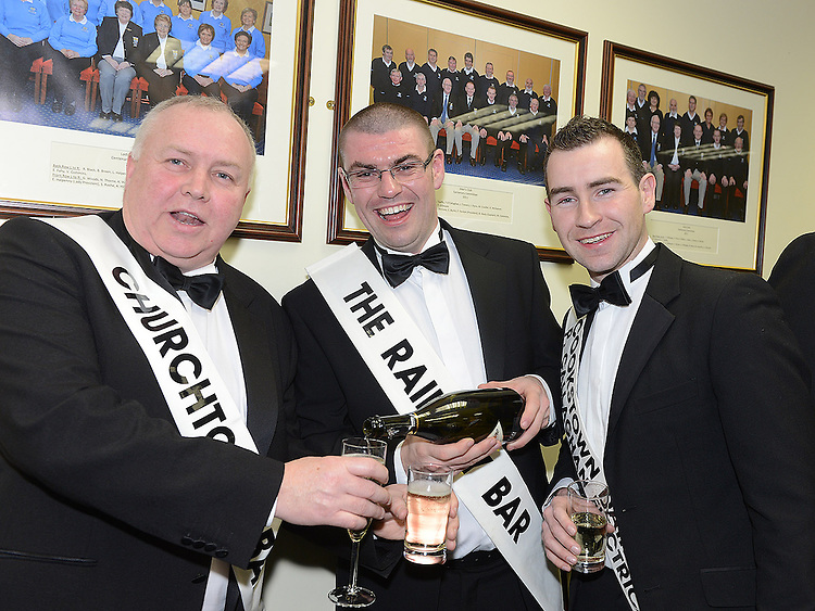 Gary Myles, Donal Lennon and Michael Callaghan pictured at the launch of Strictly Come Dancing in Ardee Golf Club. Photo:Colin Bell/pressphotos.ie