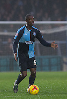 Anthony Stewart of Wycombe Wanderers looks for options during the Sky Bet League 2 match between Wycombe Wanderers and Morecambe at Adams Park, High Wycombe, England on 2 January 2016. Photo by Andy Rowland / PRiME Media Images