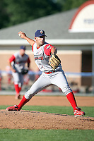 August 3rd 2008:  Pitcher Jordan Ellis of the Williamsport Crosscutters, Class-A affiliate of the Philadelphia Phillies, during a game at Dwyer Stadium in Batavia, NY.  Photo by:  Mike Janes/Four Seam Images