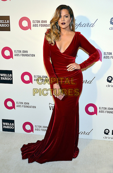 02 March 2014 - West Hollywood, California - Khloe Kardashian. 22nd Annual Elton John Academy Awards Viewing Party held at West Hollywood Park.  <br /> CAP/ADM/CC<br /> &copy;ChewAdMedia/Capital Pictures