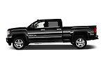 4Door Truck Side View of 2015 GMC Sierra 2500 SLT Stock Photo