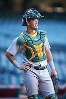 Oakland Athletics Collin Theroux (55) during an Instructional League game against the Arizona Diamondbacks on October 15, 2016 at Chase Field in Phoenix, Arizona.  (Mike Janes/Four Seam Images)
