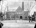 Frederick Stone negative. Leavenworth School, Central Avenue 1915.