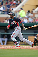 Atlanta Braves outfielder B.J. Upton (2) during a spring training game against the Detroit Tigers on February 27, 2014 at Joker Marchant Stadium in Lakeland, Florida.  Detroit defeated Atlanta 5-2.  (Mike Janes/Four Seam Images)