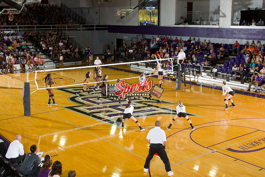 The High Point Panthers in action against the VCU Rams at Millis Athletic Center on September 17, 2013 in High Point, North Carolina.  The Rams defeated the Panthers 3-0.   (Brian Westerholt/Sports On Film)
