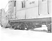 Left back view of C&amp;TS rotary snow plow OM flanger.<br /> C&amp;TS  Chama, NM  Taken by Payne, Andy M. - 3/23/1975