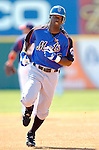 18 March 2006: Lastings Milledge, outfielder for the New York Mets, running on the basepath during a Spring Training game against the Washington Nationals at Space Coast Stadium, in Viera, Florida. The Nationals defeated the Mets 10-2 in Grapefruit League play...Mandatory Photo Credit: Ed Wolfstein Photo..