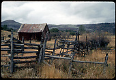 Old rail fence and barn near Peak on Dallas Divide.<br /> Peak (near), CO  Taken by Dorman, Richard L. - ca. 1970-1979