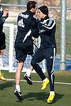 Madrid (24/02/10).-Entrenamiento del Real Madrid..Cristiano Ronaldo y Cristoph Metzelder...© Alex Cid-Fuentes/ ALFAQUI..Madrid (24/02/10).-Training session of Real Madrid c.f..Cristiano Ronaldo and Cristoph Metzelder...© Alex Cid-Fuentes/ ALFAQUI.