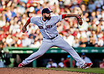 22 June 2019: Boston Red Sox pitcher Mike Shawaryn on the mound in the 7th inning against the Toronto Blue Jays at Fenway :Park in Boston, MA. The Blue Jays rallied to defeat the Red Sox 8-7 in the 2nd game of their 3-game series. Mandatory Credit: Ed Wolfstein Photo *** RAW (NEF) Image File Available ***