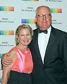 James A. Johnson, former CEO of Fannie Mae and former chairman of the John F. Kennedy Center for the Arts, and Heather Kirby arrive for the formal Artist's Dinner honoring the recipients of the 38th Annual Kennedy Center Honors hosted by United States Secretary of State John F. Kerry at the U.S. Department of State in Washington, D.C. on Saturday, December 5, 2015. The 2015 honorees are: singer-songwriter Carole King, filmmaker George Lucas, actress and singer Rita Moreno, conductor Seiji Ozawa, and actress and Broadway star Cicely Tyson.<br /> Credit: Ron Sachs / Pool via CNP
