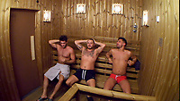 Jonny Mitchell, Daniel O'Reilly and Andrew Brady.<br /> Celebrity Big Brother 2018 - Day 7<br /> *Editorial Use Only*<br /> CAP/KFS<br /> Image supplied by Capital Pictures