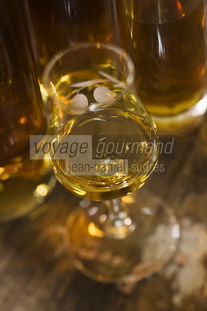 Europe/France/Aquitaine/24/Dordogne/Vallée de la Dordogne/Périgord/Périgord Noir/Sarlat-la-Canéda: Eau de vie de prune à la distillerie de la Salamandre