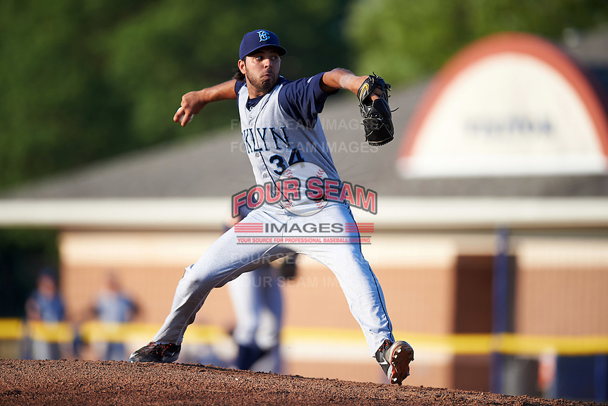 Brooklyn Cyclones starting pitcher Nabil Crismatt (34) during a game against the Batavia Muckdogs on July 5, 2016 at Dwyer Stadium in Batavia, New York.  Brooklyn defeated Batavia 5-1.  (Mike Janes/Four Seam Images)