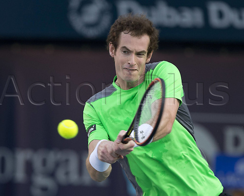 25.02.2015. Dubai, United Arab Emirates.  Andy Murray (GBR)  Dubai Duty Free Tennis Championships