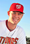 28 February 2010: Washington Nationals starting pitcher Stephen Strasburg poses for his Spring Training photo at Space Coast Stadium in Viera, Florida. Mandatory Credit: Ed Wolfstein Photo