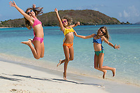 Girls at the beach<br />