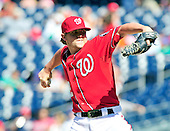 Washington Nationals closer Drew Storen (22) works in the ninth inning against the New York Mets at Nationals Park in Washington, D.C. on Sunday, July 31, 2011.  Storen blew the save opportunity but the Nationals won the game in the bottom of the ninth inning 3 - 2..Credit: Ron Sachs / CNP.(RESTRICTION: NO New York or New Jersey Newspapers or newspapers within a 75 mile radius of New York City)