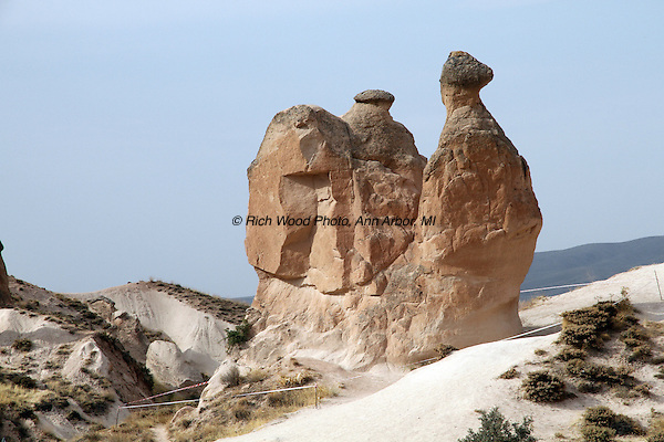 Rock formation known as the Camel Rock in Cappodochia Turkey.