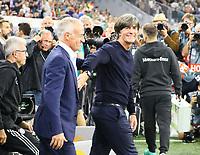 Bundestrainer Joachim Loew (Deutschland Germany) mit Nationaltrainer Didier Deschamps (Frankreich, France) - 06.09.2018: Deutschland vs. Frankreich, Allianz Arena München, UEFA Nations League, 1. Spieltag