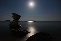 Aegean under moonlight at Andros island, Greece