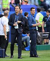 FUSSBALL FIFA Confed Cup 2017 Vorrunde in Sotchi 18.06.2017  Australien - Deutschland  Teammanager Oliver Bierhoff  (li, Deutschland) und Trainer Assistent Miroslav Klose (Deutschland)
