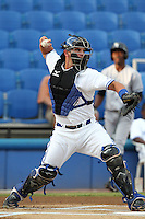 Dunedin Blue Jays catcher Sean Ochinko #14 during a game against the Tampa Yankees at Dunedin Stadium on April 28, 2012 in Dunedin, Florida.  Dunedin defeated the Yankees 6-1.  (Mike Janes/Four Seam Images)