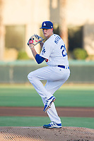 AZL Dodgers starting pitcher James Marinan (29) delivers a pitch during a game against the AZL Brewers at Camelback Ranch on July 25, 2017 in Glendale, Arizona.  The AZL Dodgers defeated the AZL Brewers 8-3.  (Zachary Lucy/Four Seam Images)