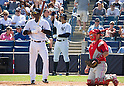 Alex Rodriguez (Yankees),<br /> MARCH 4, 2015 - MLB : Alex Rodriguez (C) of the New York Yankees stands on deck circle during a spring training baseball game against the Philadelphia Phillies at George M. Steinbrenner Field in Tampa, Florida, United States.<br /> (Photo by Thomas Anderson/AFLO) (JAPANESE NEWSPAPER OUT)