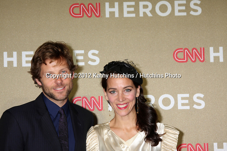 LOS ANGELES - DEC 2:  Jamie Bamber, Kerry Norton arrives to the 2012 CNN Heroes Awards at Shrine Auditorium on December 2, 2012 in Los Angeles, CA