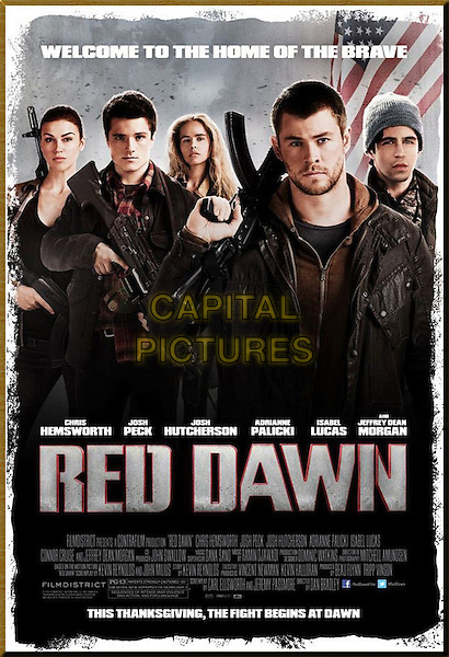 POSTER ART .in Red Dawn (2012) .*Filmstill - Editorial Use Only*.CAP/FB.Supplied by Capital Pictures.