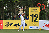 Gaganjeet Bhullar (IND) in action on the 12th during Round 2 of the Maybank Championship at the Saujana Golf and Country Club in Kuala Lumpur on Friday 2nd February 2018.<br /> Picture:  Thos Caffrey / www.golffile.ie<br /> <br /> All photo usage must carry mandatory copyright credit (&copy; Golffile | Thos Caffrey)