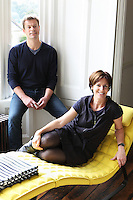 Founder of MoreySmith architectural design practice, Linda Morey Smith and her husband, art consultant Patrick Burrows