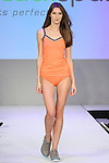Model walks runway in sleepwear from Blackspade, during the Lingerie Fashion Night - Romancing The Runway show, by CurvExpo and Lycra on February 23, 2015.