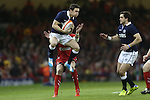 Scotland wing Max Evans catches the early high ball.<br /> RBS 6 Nations 2014<br /> Wales v Scotland<br /> Millennium Stadium<br /> <br /> 15.03.14<br /> <br /> &copy;Steve Pope-SPORTINGWALES