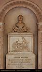 Alabaster Monument to Lorenzo Bartolini master sculptor Santa Croce Florence