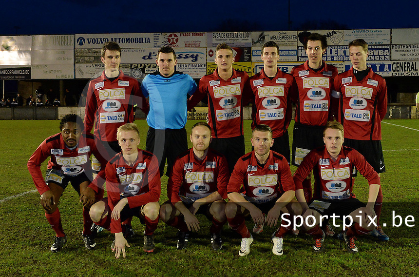 KM Torhout - FC Izegem :<br /> <br /> ploeg van FC Izegem<br /> <br /> foto VDB / BART VANDENBROUCKE