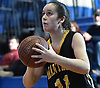 Julia Wilkinson #11 of Wantagh drains a shot from beyond the arc during a non-league girls basketball game against West Babylon at Robert Moses Middle School in North Babylon on Saturday, Dec. 22, 2018. She scored 12 points in Wantagh's 49-30 win.