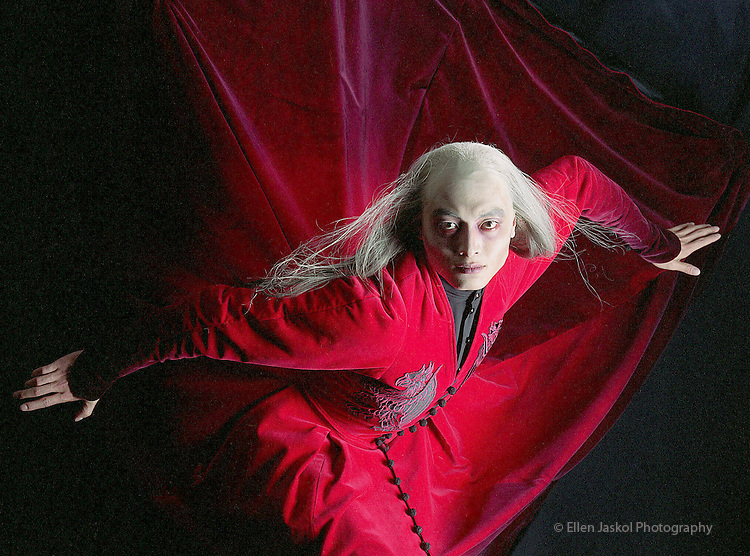 Zhuang Hua  as Dracula in the Colorado Ballet production, Dracula.  Photo by Ellen Jaskol.