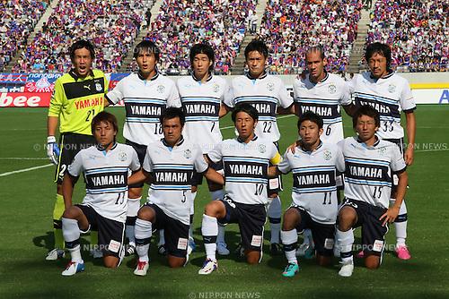 Jubilo Iwata team group line-up, .SEPTEMBER 29, 2012 - Football /Soccer : .2012 J.LEAGUE Division 1 .between F.C. Tokyo 2-1 Jubilo Iwata .at Ajinomoto Stadium, Tokyo, Japan. .(Photo by YUTAKA/AFLO SPORT) [1040]