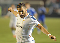 07.08.2013.Miami, Florida, USA.  Karim Benzema (9)  during the second half of the the final of the Guinness International Champions Cup between Real madrid and Chelsea. The game was won by a score of 3-1 by Real Madrid with Ronaldo scoring a brace.
