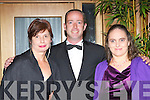 Ann Nagle, Aidan O'Connor and Jane Curran at the Kerry Stars ball in the Malton Hotel, Killarney on Saturday night .