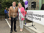 Rose of Tralee for 2015 Elysha Brennan with Lord Henry Mountcharles at the official opening of Slane Foróige Youth Café. Photo:Colin Bell/pressphotos.ie